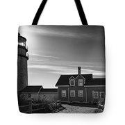 Highland Lighthouse Bw Tote Bag