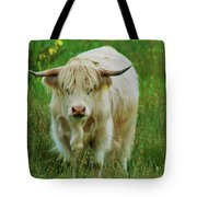 Highland White  Tote Bag