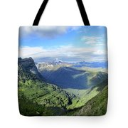 Highline Trail Overlooking Going To The Sun Road - Glacier National Park Tote Bag