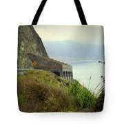 Highway 1 At Lucia South Of Big Sur Ca Tote Bag