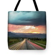 Highway 36 To Beautiful Boulder Colorado Tote Bag