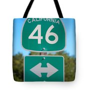 Highway Fourty Six Tote Bag