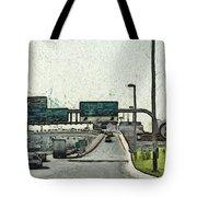 Highway In Dubai Tote Bag