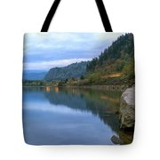 Highway Light Trails On Columbia River Gorge Tote Bag