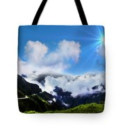 Highway Through The Andes - Painting Tote Bag