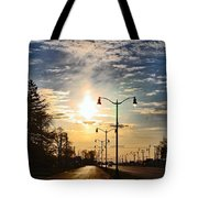 Highway To The Sun Tote Bag