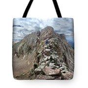 Hiker On Mt Eolus Catwalk - Chicago Basin - Weminuche Wilderness - Colorado Tote Bag