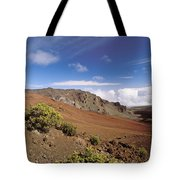 Hikers Inside Haleakala  Tote Bag