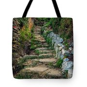 Hiking In Cinque Terre Italy Tote Bag