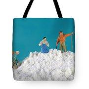 Hiking On Flour Snow Mountain Tote Bag