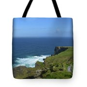 Hiking Path Along The Top Of The Cliff's Of Moher Tote Bag