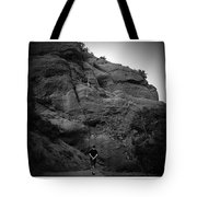 Hiking The Trails In Black And White Tote Bag