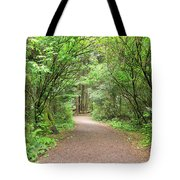 Hiking Trail Along Lewis And Clark River Tote Bag