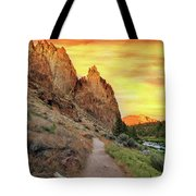 Hiking Trail At Smith Rock State Park Tote Bag
