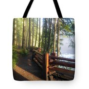 Hiking Trails At Lower Lewis River Trail Tote Bag