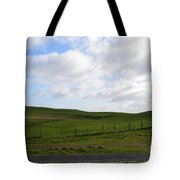 Hiking Trails, Rolling Hills And Grass Fields In Ireland Tote Bag