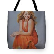 Hilary Duff Tote Bag