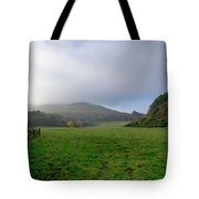 Hill Tops In Mist. Tote Bag