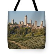 Hill Town Of San Gimignano Tote Bag