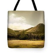 Hills And Fields Of Trial Harbour Tote Bag