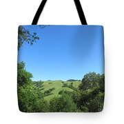 Hills Beyond The Trees Tote Bag