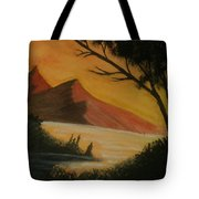 Hills During Sunset Tote Bag