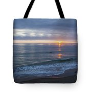 Hills Of Clouds With Ocean Sunset Tote Bag