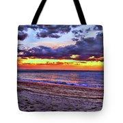 Hillsboro Beach Orange Sunset Hdr Tote Bag