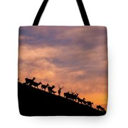 Hillside Elk Tote Bag