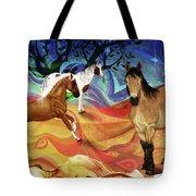 Hillside Horses Tote Bag