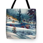 Hillside In Winter Tote Bag