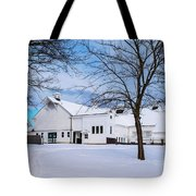 Hilltip Farm In Snow Tote Bag