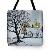 Hilltop Church Tote Bag