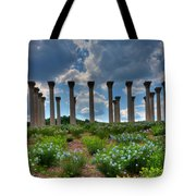 Hilltop Pillars Tote Bag by Kevin Hill