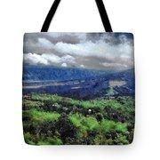 Hilly Terrain Tote Bag