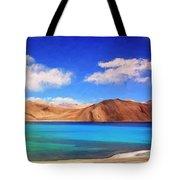 Himalayan Lake Tote Bag