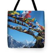 Himalayas In Nepal Tote Bag