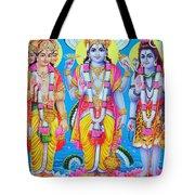 Hindu Trinity Brahma Vishnu Shiva Tote Bag