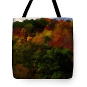 Hint Of Fall Color Painting Tote Bag