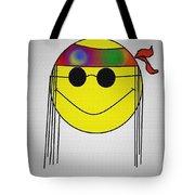 Hippie Face Tote Bag