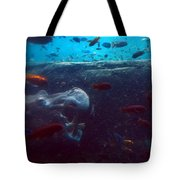 Hippo Eating African Cichlids Tote Bag