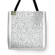Hippocratic Oath, 1938 Tote Bag