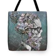 Hipster Floral Skull 2 Tote Bag