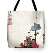 Hiroshige: Poppies Tote Bag