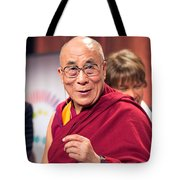 His Holiness The 14th Dalai Lama Photo By Christopher Michel 2012 Tote Bag