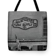 Historic Carpenter Farm Supply Sign Tote Bag
