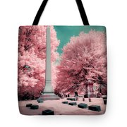 Historic Cemetery In Infrared Tote Bag