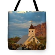 Historic Church In Superstition Mountain State Park Tote Bag