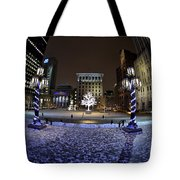 Historic District Winter Scene Tote Bag
