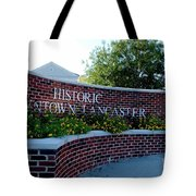Historic Downtown Lancaster Tote Bag